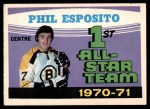 1971 O-Pee-Chee #253   -  Phil Esposito 1st All-Star Team Front Thumbnail