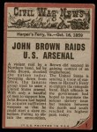 1962 Topps Civil War News #1   The Angry Man Back Thumbnail