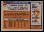 1976 Topps #107  Clarence Scott  Back Thumbnail