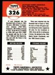 1953 Topps Archives #326  Dizzy Dean / Al Simmons  Back Thumbnail