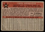 1958 Topps #483   -  Luis Aparicio All-Star Back Thumbnail