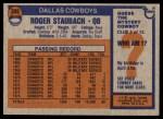 1976 Topps #395  Roger Staubach  Back Thumbnail