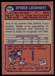 1973 Topps #468  Spider Lockhart  Back Thumbnail