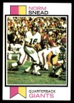 1973 Topps #515  Norm Snead  Front Thumbnail