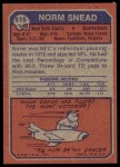 1973 Topps #515  Norm Snead  Back Thumbnail