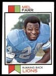 1973 Topps #519  Mel Farr  Front Thumbnail