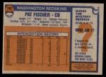 1976 Topps #192  Pat Fischer  Back Thumbnail
