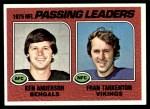 1976 Topps #201   -  Fran Tarkenton / Ken Anderson  Passing Leaders Front Thumbnail