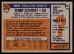 1976 Topps #247  Terry Schmidt   Back Thumbnail