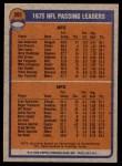 1976 Topps #201   -  Fran Tarkenton / Ken Anderson  Passing Leaders Back Thumbnail