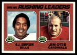 1976 Topps #203   -  O.J. Simpson / Jim Otis  Rushing Leaders Front Thumbnail