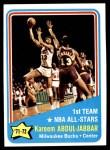 1972 Topps #163   -  Kareem Abdul-Jabbar NBA All-Star - 1st Team Front Thumbnail