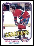 1981 Topps #13  Bob Gainey  Front Thumbnail