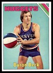 1975 Topps #258  Byron Beck  Front Thumbnail