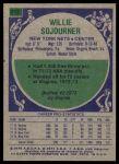 1975 Topps #312  Willie Sojourner  Back Thumbnail