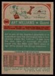 1973 Topps #147  Art Williams  Back Thumbnail