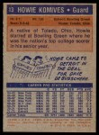 1972 Topps #13  Howie Komives   Back Thumbnail