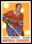 1970 Topps #52  Jacques Laperriere  Front Thumbnail