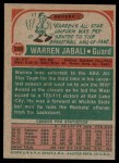 1973 Topps #220  Warren Jabali  Back Thumbnail