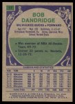 1975 Topps #17  Bob Dandridge  Back Thumbnail