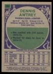1975 Topps #39  Dennis Awtrey  Back Thumbnail