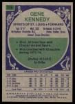1975 Topps #316  Gene Kennedy  Back Thumbnail