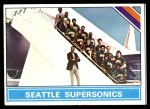 1975 Topps #219   Seattle SuperSonics Front Thumbnail