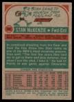 1973 Topps #32  Stan McKenzie  Back Thumbnail