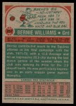 1973 Topps #257  Bernie Williams  Back Thumbnail