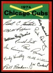 1974 Topps Red Team Checklist   Cubs Team Checklist Front Thumbnail