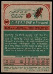 1973 Topps #127  Curtis Rowe  Back Thumbnail