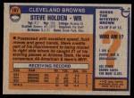 1976 Topps #167  Steve Holden  Back Thumbnail