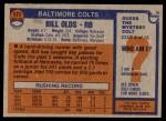 1976 Topps #171  Bill Olds  Back Thumbnail