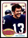 1976 Topps #183  Dave Jennings   Front Thumbnail