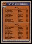 1976 Topps #204   -  O.J. Simpson / Chuck Foreman  Scoring Leaders Back Thumbnail