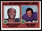 1976 Topps #205   -  Mel Blount / Paul Krause  Interception Leaders Front Thumbnail