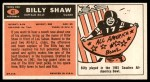 1965 Topps #41  Billy Shaw  Back Thumbnail