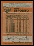 1978 Topps #250  Tony Esposito  Back Thumbnail