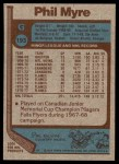 1977 Topps #193  Phil Myre  Back Thumbnail