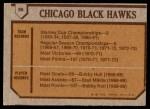 1973 Topps #96   Chicago Blackhawks Team Back Thumbnail