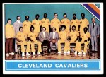 1975 Topps #207   Cleveland Cavaliers Front Thumbnail