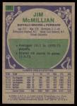 1975 Topps #27  Jim McMillian  Back Thumbnail