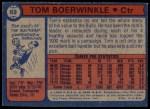 1974 Topps #69  Tom Boerwinkle  Back Thumbnail