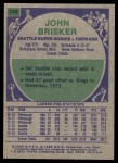 1975 Topps #149  John Brisker  Back Thumbnail