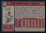 1974 Topps #157  Lee Winfield  Back Thumbnail