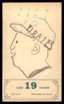 1965 Topps Embossed #19  Roberto Clemente  Back Thumbnail