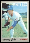 1970 Topps #180  Tommy John  Front Thumbnail