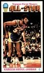 1976 Topps #126  Kareem Abdul-Jabbar  Front Thumbnail