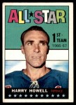 1967 Topps #121   -  Harry Howell All-Star Front Thumbnail