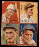 1935 Goudey 4-in-1  Babe Herman / Gus Suhr / Tom Padden / Cy Blanton  Front Thumbnail